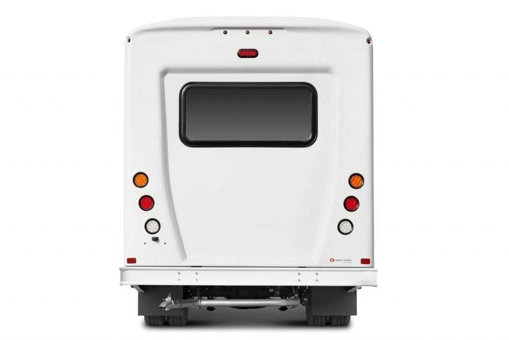 Commercial bus rear end by Telin Transportation Group